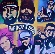 Rap Music Painting Originals - Hip Hop Is Dead 2 by Tony B Conscious