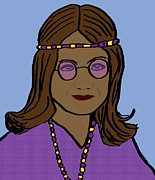 Long Street Digital Art - Hippie Girl 4 by Kate Farrant