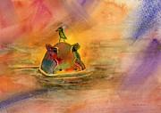 Hippo Birdie Print by Amy Kirkpatrick