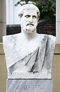 Commonwealth Of Virginia Prints - Hippocrates Statue - VCU Campus Print by Brendan Reals