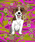 Puppies Digital Art - Hipster Jack by R L Nielsen