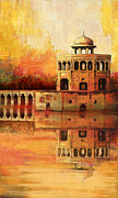 Red Buildings Posters - Hiran Minar Poster by Catf