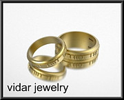 Band Jewelry Originals - His And Hers 14K Yellow Gold Matching Wedding Bands Set by Roi Avidar