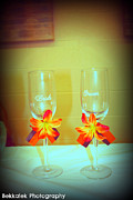 Champagne Glasses Photos - His and Hers by Becca Obourn