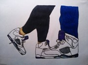 Jordans Prints - His and Hers sneakers Print by Travis Hadley