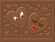 Candy Digital Art Prints - HIS and HERsheys Print by Cristophers Dream Artistry