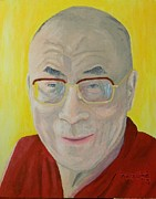 Hero Painting Originals - His Holiness the Dali Lama by Gilbert Bernhardt