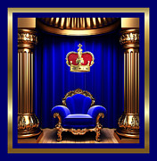 Throne Room Digital Art - His Majesty 2 by Karen Showell