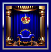 Throne Room Digital Art - His Majesty by Karen Showell
