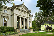 Village Views Prints - Historic Architecture Greene Public Library Print by Christina Rollo