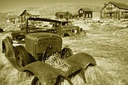 American Cowboy Gallery Prints - Historic Bodie Ghost Town - California Vintage Print by Peter Art Print Gallery  - Paintings Photos Posters