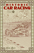 Monaco Art - Historic Car Racing by Nomad Art And  Design