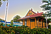 Ann Patterson Art - Historic Carlsbad Train Station by Ann Patterson