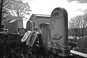 Ominous Prints - Historic Cemetery Print by Jennifer Lyon