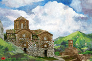 Historic Statue Painting Framed Prints - Historic Centers of Berat and Gjirokastra Framed Print by Catf