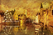 Brussels Prints - Historic Centre of Brugge Print by Catf