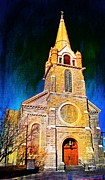 Historic Colorado Church 1800s Print by Barbara Chichester