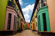 Colombian Framed Prints - Historic Colorful Buildings Framed Print by Jess Kraft