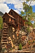 Old Mills Photo Prints - Historic Crystal Mill Print by Adam Jewell