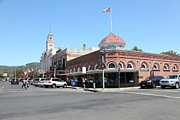 Wine Country Prints - Historic Downtown Sonoma California 5D24483 Print by Wingsdomain Art and Photography