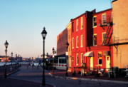 Street Lamp Posters - Historic Fells Point Poster by Thomas R Fletcher