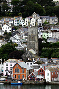 Townscape Framed Prints - Historic Fowey Framed Print by James Brunker