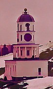 Halifax Photography Prints - Historic Halifax Town Clock  Print by  Halifax Artist John Malone