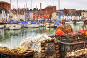 Historic Photo Posters - historic harbour Weymouth Poster by Joana Kruse
