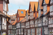 Old Houses Framed Prints - Historic houses in Germany Framed Print by Heiko Koehrer-Wagner