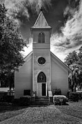 Historic Mcintosh Methodist Church Print by Lynn Palmer