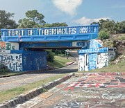 Feast Of Tabernacles Posters - Historic Pensacola Graffiti Bridge Poster by Janice Spivey
