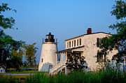 Lighthouse Digital Art - Historic Piney Point Lighthouse by Bill Cannon