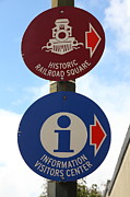 Classic Architecture Prints - Historic Railroad Square Sign Santa Rosa California 5D25868 Print by Wingsdomain Art and Photography