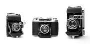 Rangefinder Metal Prints - Historic rangefinder cameras Metal Print by Paul Cowan