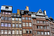 Wooden Home Prints - Historic Rennes Print by Jane Rix