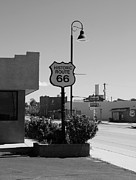 Small Towns Photo Metal Prints - Historic Route 66 Metal Print by Mel Steinhauer