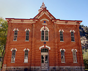 Brick Schools Photo Metal Prints - Historic School Building  Metal Print by Ann Powell