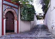 Old Door Photos - Historic street at Albaycin In Granada by Guido Montanes Castillo
