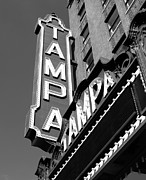 Movie Theater Framed Prints - Historic Tampa Framed Print by David Lee Thompson