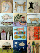 Archeology Paintings - Historic Tiles by Michael Sharber