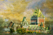 Glacier Paintings - Historic Town of Old Quebec 01 by Catf