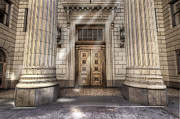 Sundays Prints - Historic US Bank Building in Portland Oregon Print by David Gn