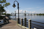 Riverwalk Prints - Historic Wilmington - Fear River Print by Christiane Schulze