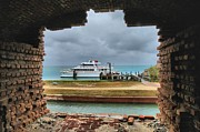 Dry Tortugas Photo Prints - Historic Window Print by Adam Jewell