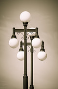 Ybor City Photos - Historic Ybor Lamp Posts by Carolyn Marshall