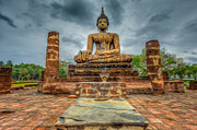 Buddhism Digital Art Metal Prints - Historical Park Metal Print by Adrian Evans