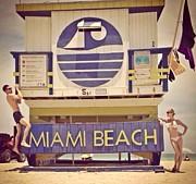 History South Beach Miami Fl Print by Lisa Piper Menkin Stegeman
