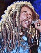 Reggae Art Paintings - Hit Me with Music by Tom Roderick