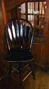 Antiques Paintings - Hitchcock Chair in the Corner by RC deWinter