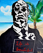 Hitchcock Film Paintings - Hitchcock In Paradise by Celina Frisson